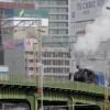 名古屋市内惊现蒸汽机火车
